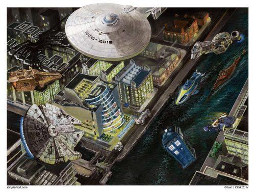 Spaceport CCD- art by Iain Clark