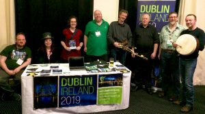 Fergal, Vanessa, Gwen, Brian, John, John, James and Kevin at the Dublin2019 table
