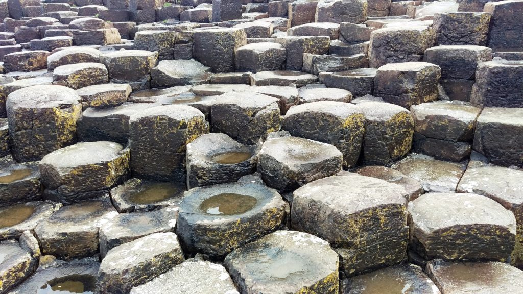 Photo showing close-up of Giant's Causeway