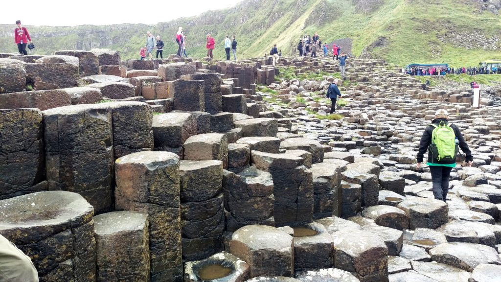 Photo of people on the Giant's Causeway