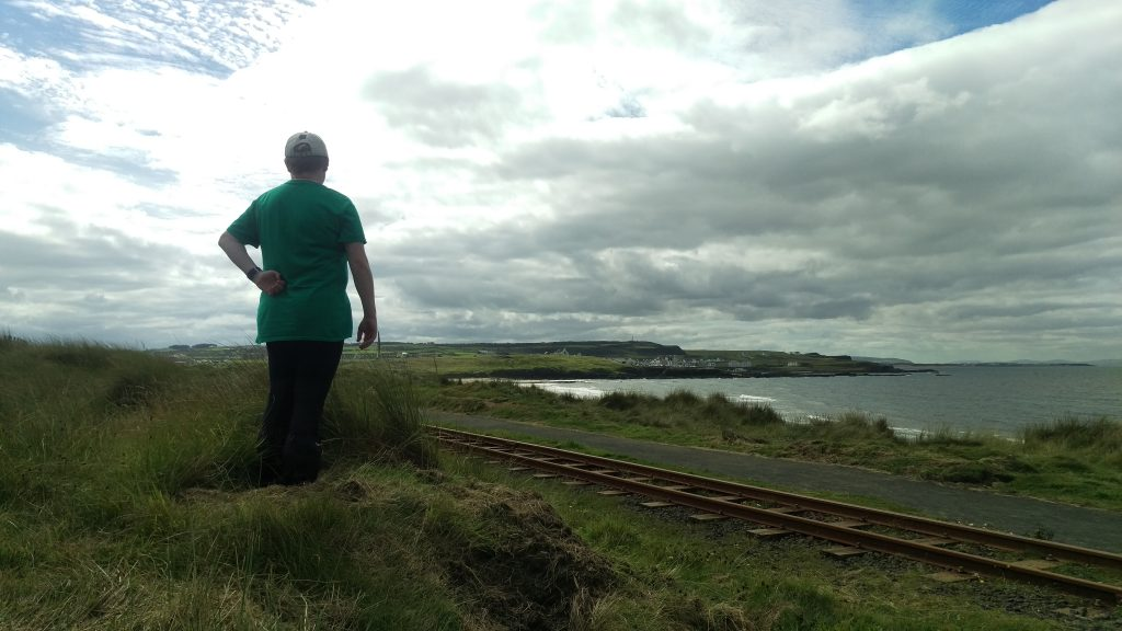 Photo of the railwaytracks on the way to Portballintrae