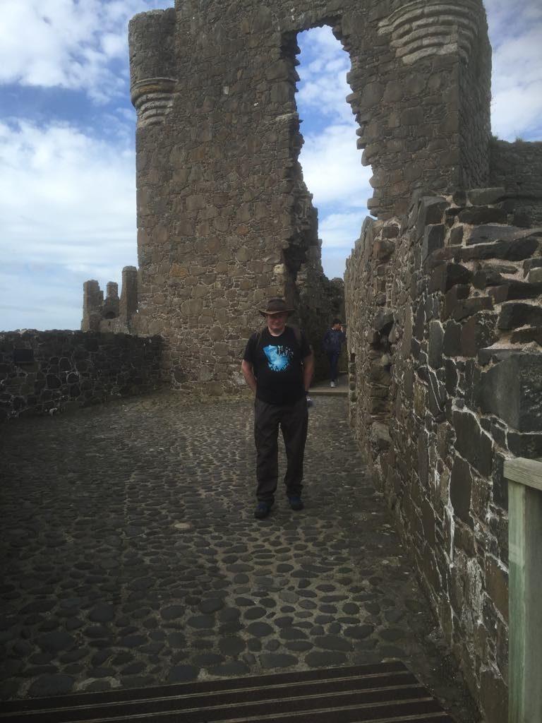 James in Dunluce Castle