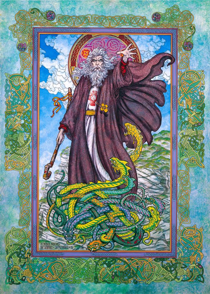 Art- Saint Patrick by Jim Fitzpatrick