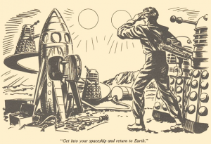 scene from The Dalek World comic