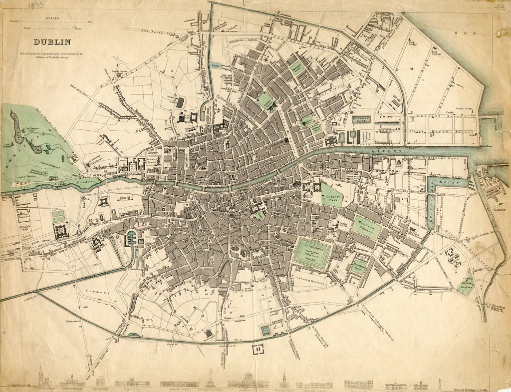 Picture of old Dublin Map