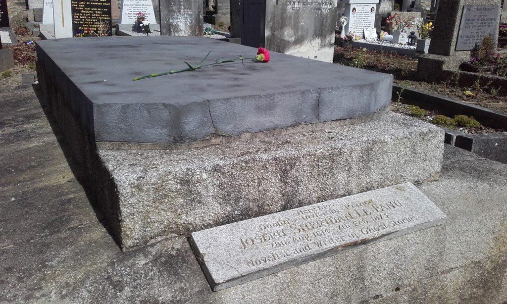 Photo of the vault of Joseph Sheridan Le Fanu