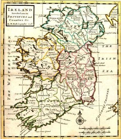 Historic map of Ireland