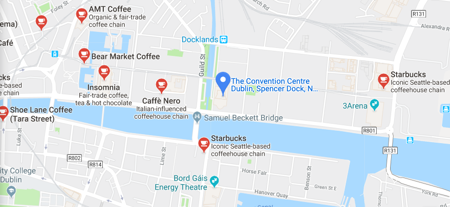 There is a Starbucks, Caffe Nero, Insomnia, Bear Market Coffee, AMT Coffee & Show Lane Coffee within a few blocks of the CCD