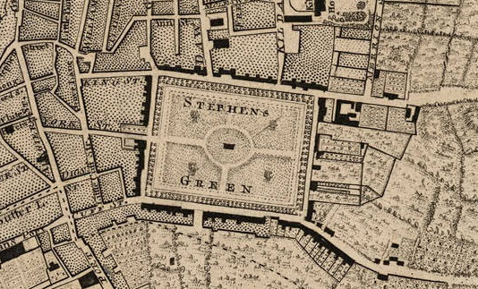 Map of Stephen's Green